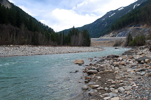 Kicking Horse River near Golden, BC Rockies, Kootenay Rockies, British Columbia, Canada