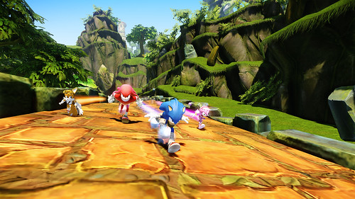 Sonic Boom Game Announcement Screens