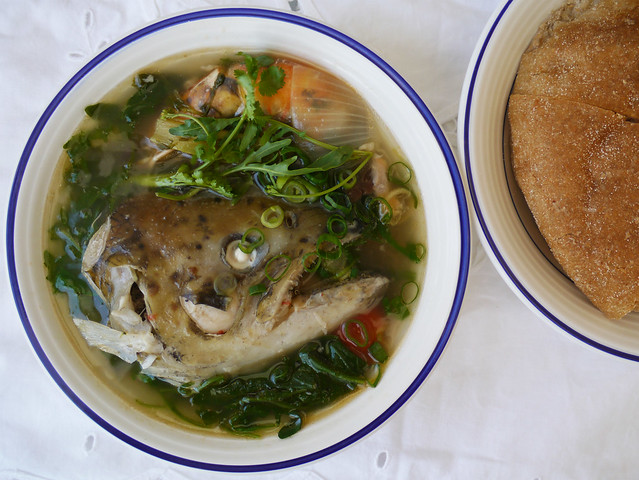 How to make tom hua pa - Lao fish head soup #13
