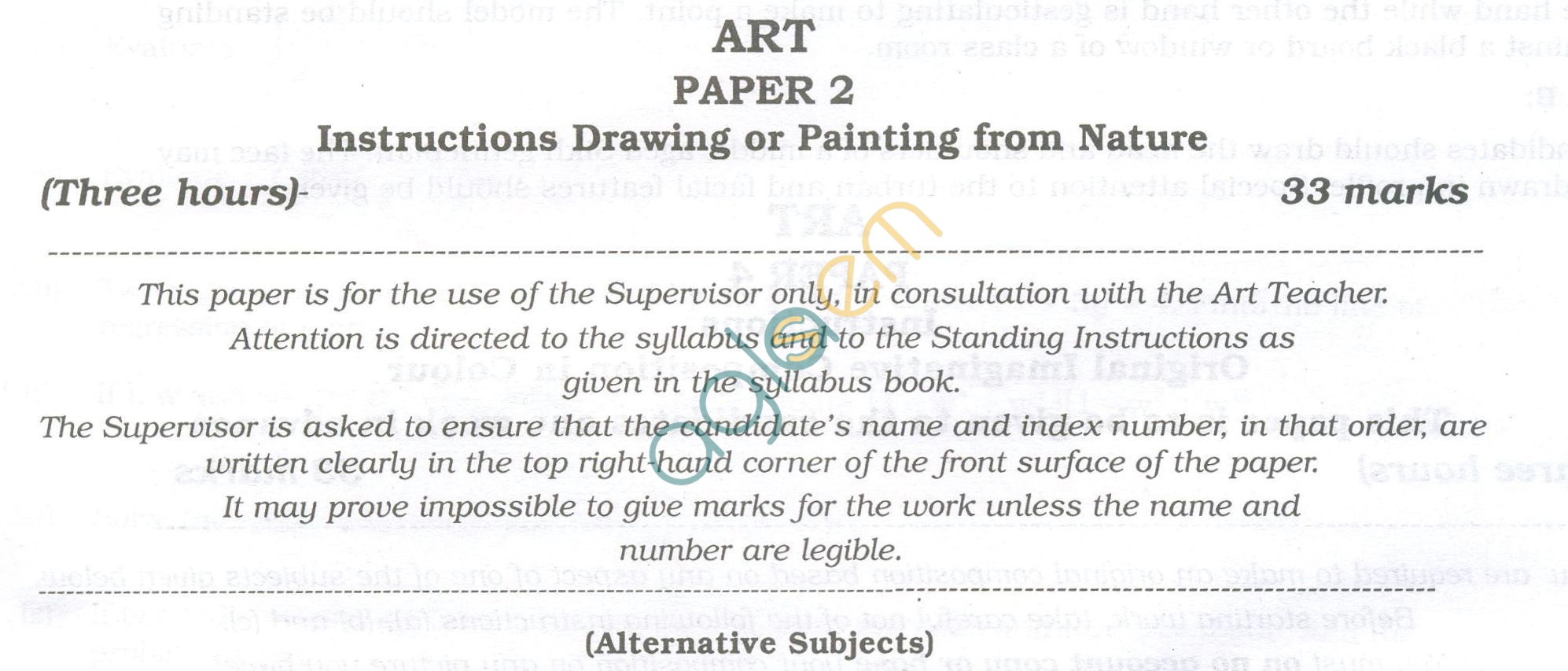 ISC Question Papers 2013 for Class 12 - Arts Paper II
