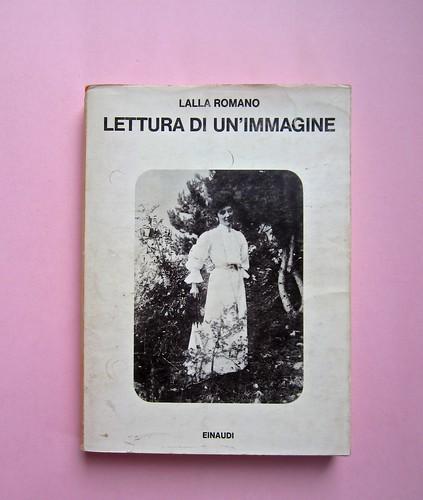 Lalla Romano, Lettura di un'immagine. Einaudi 1975. Responsabilità grafiche non indicate. Prima di sovracoperta (part.), 1