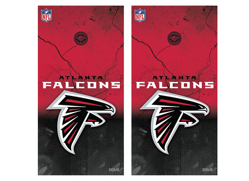 Atlanta Falcons Cornhole Game Decal Set