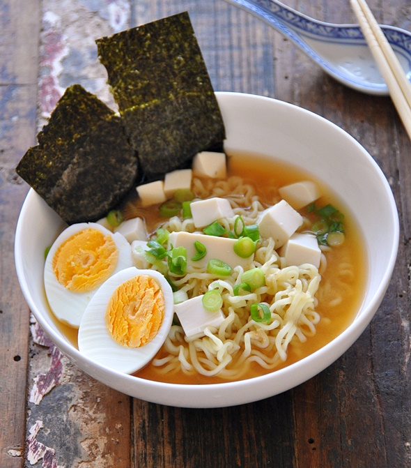 4 Ingredients Tofu Miso Ramen Recipe
