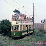 Eastbourne Tramway - Car 6 bound for Royal Parade approaching Golf House on the 17th August 1969.