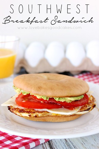 Start your day off with one of these Southwest Breakfast Sandwiches! Get rid of boring breakfasts ... this is easy and economical! #breakfast #sandwich