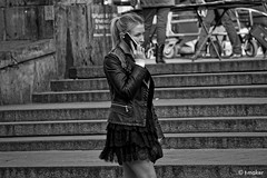 Girl in Miniskirt with a Mobile Updated