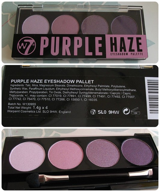 W7 Purple Haze Eyeshadow Palette Review