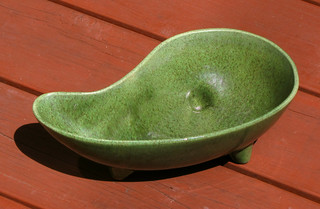 Covina Green Teardrop Planter