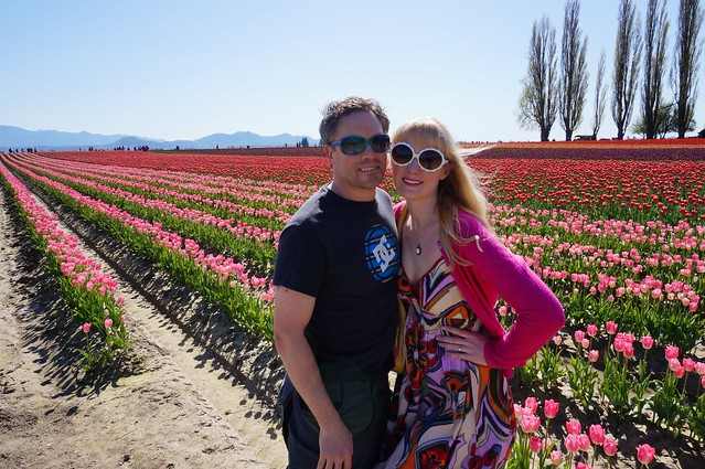 L and J in the tulips