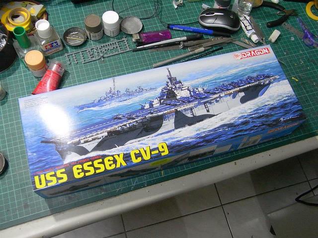 【玩具人詹波投稿】DRAGON  ESSEX CV-9航空母艦 製作分享