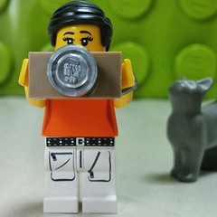 #Legopau, her #Leica and the kittycat. #love #Lego