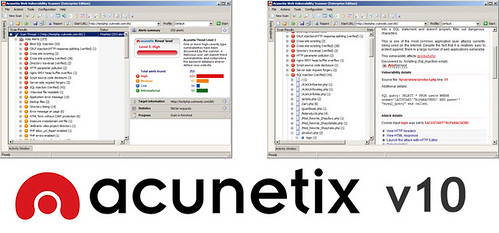 Acunetix WVS 10 Released - Keeping Your Website Secure just got Easier