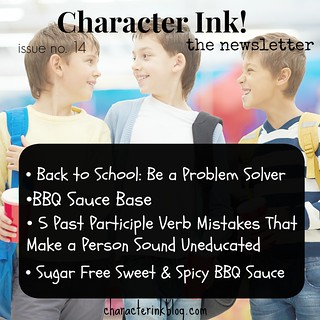 Character Ink Newsletter no. 14
