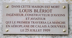 Photo of Louis Blériot marble plaque