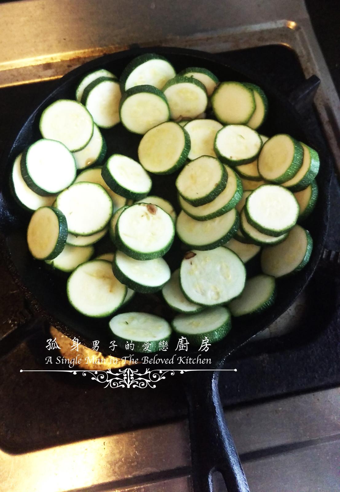 孤身廚房-清冰箱簡單早午餐!培根野菇櫛瓜義式烘蛋Frittata11