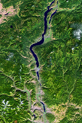 Landsat image of the Okanagan Valley, British Columbia, Canada and Washington, United States