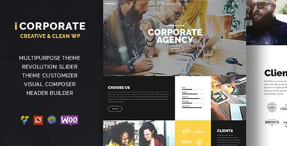 iCorporate WordPress Theme free download