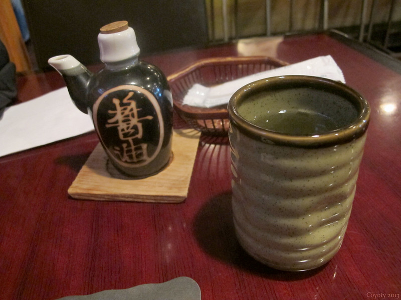 Green tea and soy sauce