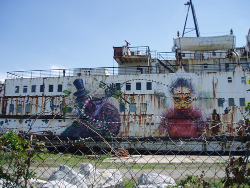 Decorated ship's side
