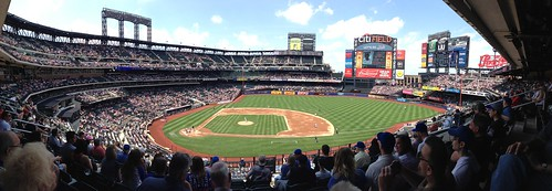 Panoramic view from section 312 on a lovely day at Citi Field for the #Mets game.