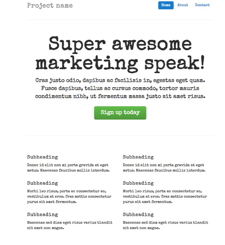 Modified Font on the TWBootstrap Marketing Template