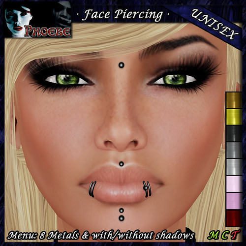 P Unisex Face Piercing K9 ~8 Metals~