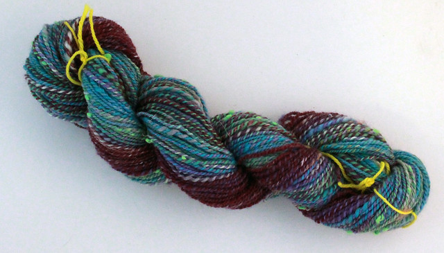 Self striping skein