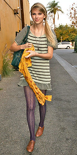 Taylor Swift Patterned Tights Celebrity Style Women's Fashion