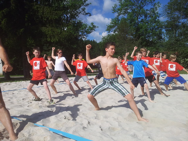 Kata-Training am Beach