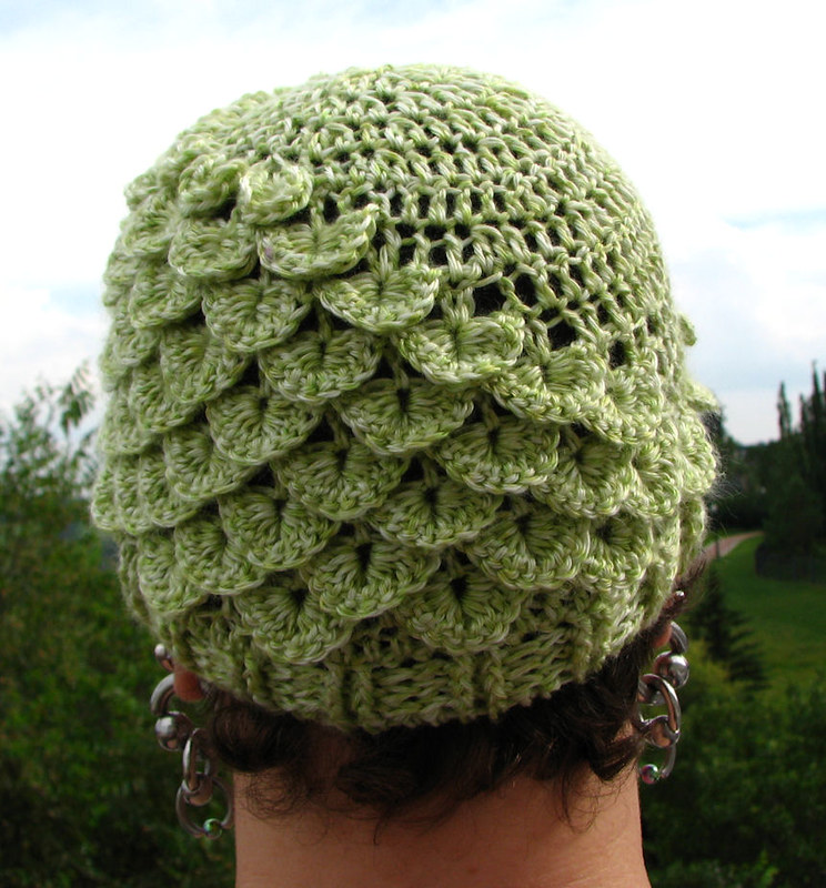 Knit Crocodile Stitch In The Round : Get Crafting!: Green Crocodile Hat