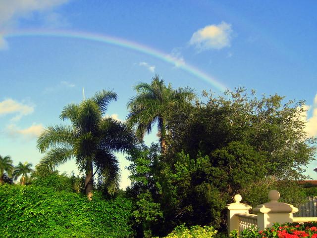 Rainbow over Sunset Lakes 20130716