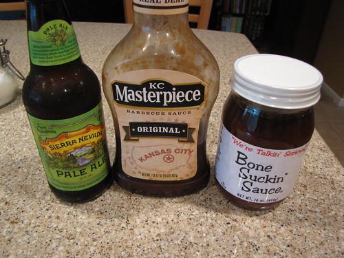 Beer Braised BBQ Ribs Ingredients