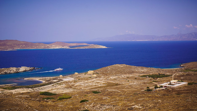 View form the top of Mt. Kythnos, Delos