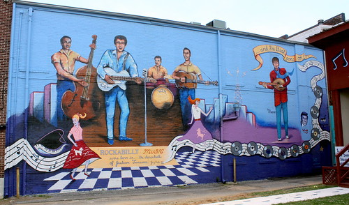 Rock-a-Billy Mural - Jackson, TN