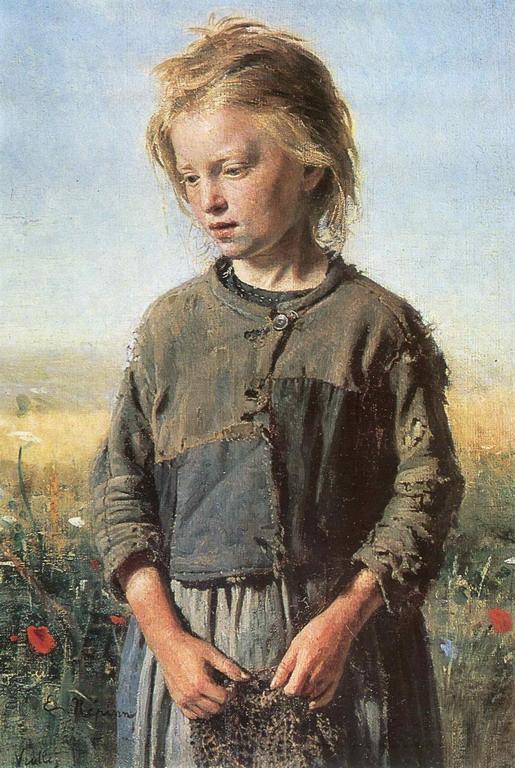 Niña pescadora del Volga. Iliá Yefímovich Repin (1874)