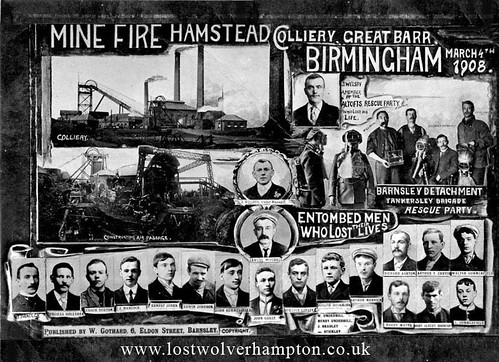 Mine Fire Hamstead Colliery, Great Bar, Birmingham 1908.