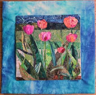 Tulip garden w/frame