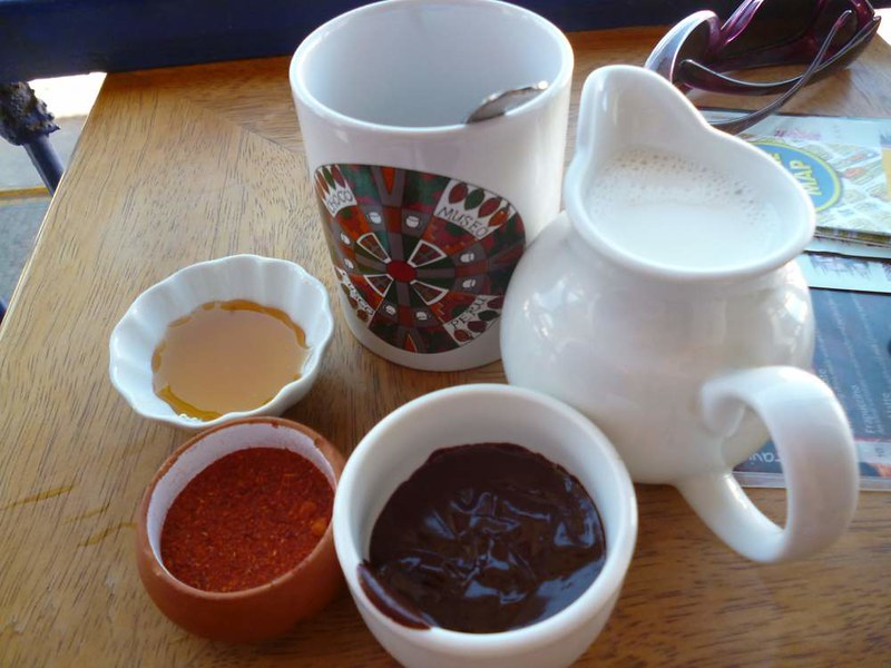Ingredients for Mayan hot chocolate