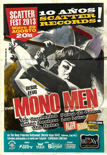 Scatter Fest 2013 con The Mono Men (arte de Dacho X)