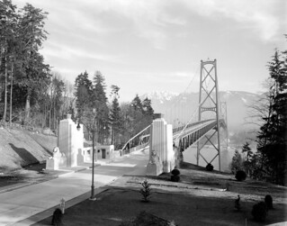 View looking north towards Lions Gate Bridge. VPL_3036