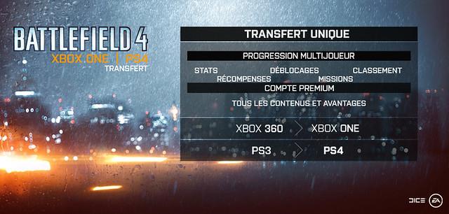 Battlefield 4 - Transfère PS3/PS4