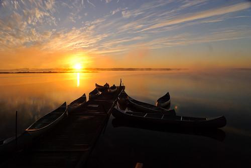 wasser schweden kanu sonnenaufgang