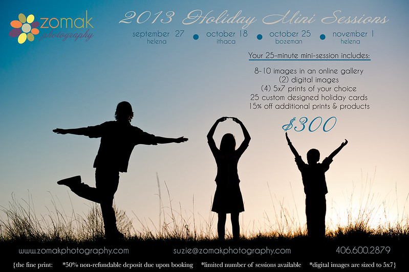 2013 Holiday Mini Session Flyer