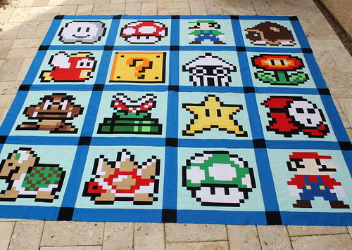 Super Mario Bros. Quilt Top