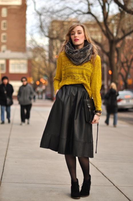 Длинные юбки осень-зима с чем носить