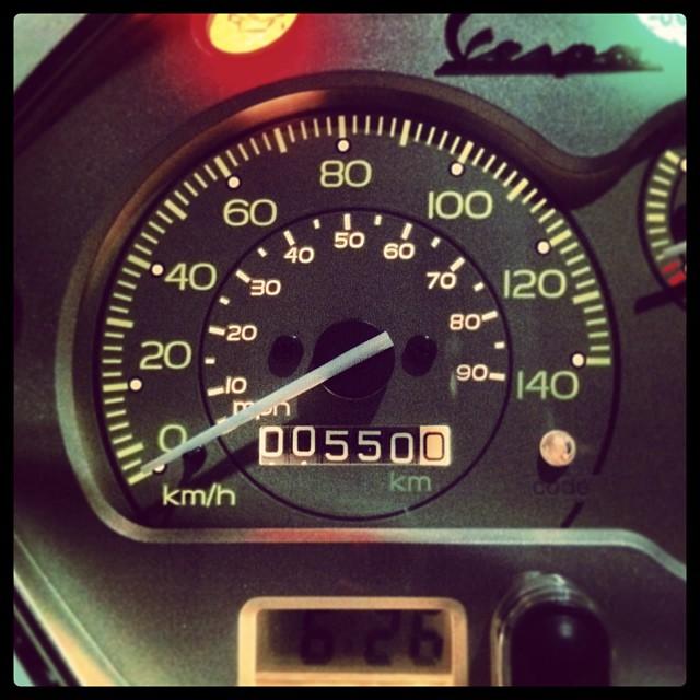 走行距離550km。 #Piaggio #Vespa LX125 3V