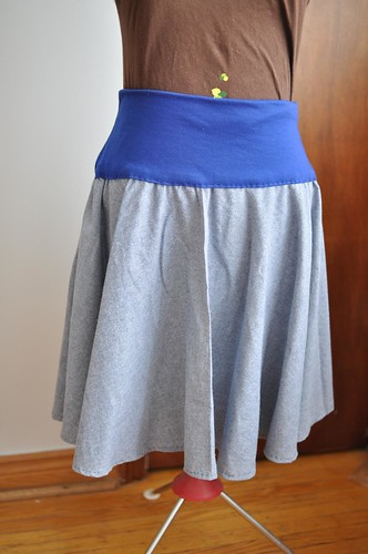 blue full skirt