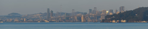 sanfrancisco bridge blue panorama color skyline sunrise oakland bay nikon october over large panoramic baybridge bayarea eastbay d200 sas 80 stitched westoakland yerbabuenaisland 2013 easternspan