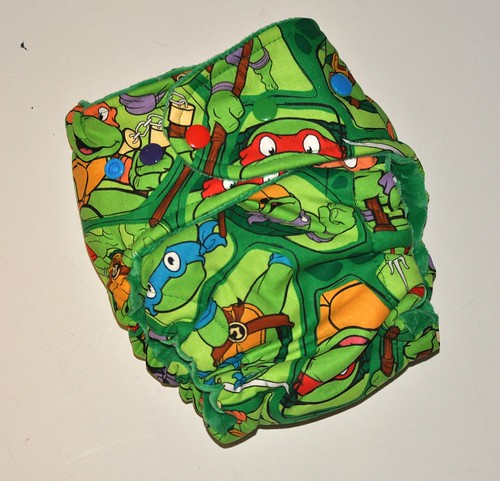Bumstoppers One Size Hybird Fitted TMNT Cotton Velour