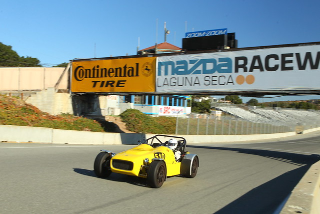 Starting a new lap @ Laguna Seca